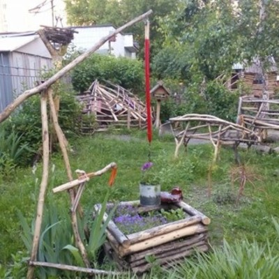 Киевляне создали детскую площадку со сказочными персонажами (фото)
