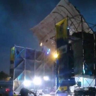 Рок-фестиваль под Днепром отменили из-за разрушительного урагана, сломавшего сцену