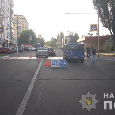 В Вышгороде автомобиль сбил женщину с двумя детьми на пешеходном переходе