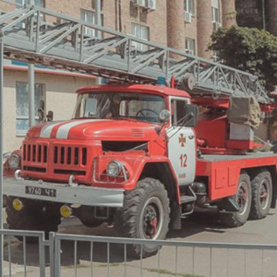 В Киеве горела детская поликлиника