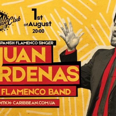 1 августа фламенко Хуан Карденас выступит в Caribbean Club Concert Hall
