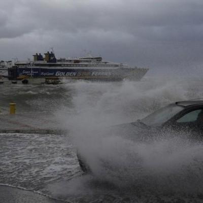 Сильная буря обрушилась на северо-восточную часть Греции
