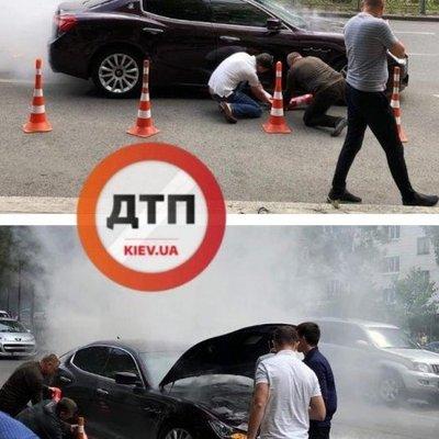 Несмотря на помощь пожарных, Maserati Quattroporte сгорел дотла