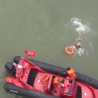 Дрон спас мужчину на черноморском побережье Грузии (видео)