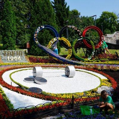 На Певческом поле идут последние приготовления к открытию выставки цветов (фото)