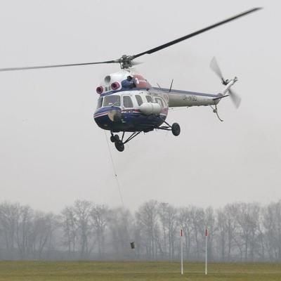 На Львовщине упал вертолет Ми-2 с двумя людьми на борту