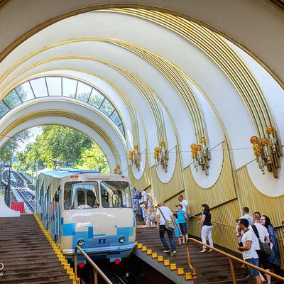 Киевский фуникулер возобновляет свою работу