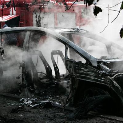В Киеве после зарядки дотла сгорел электрокар (фото и видео)