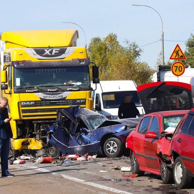 Под Киевом столкнулись девять машин, есть погибший