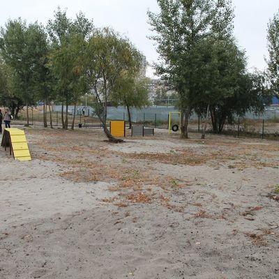 На Троещине открыли площадку для выгула собак