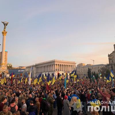 В полиции назвали количество участников акций в Киеве