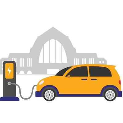 На киевском вокзале установят зарядки для электрокаров