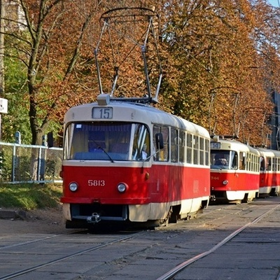 Снова приостановлено движение столичных трамваев №23, №32 и №33