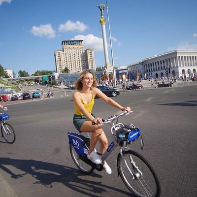 По сравнению с прошлым годом в Киеве более чем втрое выросло количество аренд велосипедов