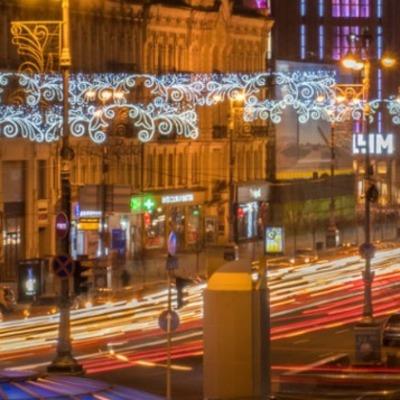 В Киеве устанавливают новогоднее освещение: когда и где его включат