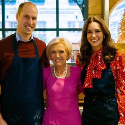 Кейт Миддлтон и принц Уильям приняли участие в съемках кулинарного рождественского телешоу (фото)