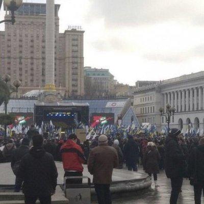 Накануне встречи в «нормандском формате» на столичном майдане собрали вече
