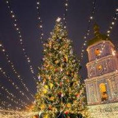 Елка в Киеве признана одной из пяти самых красивых в Европе