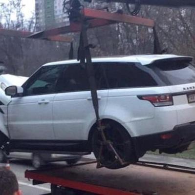 В Киеве сотрудники СТО разбили Range Rover клиента