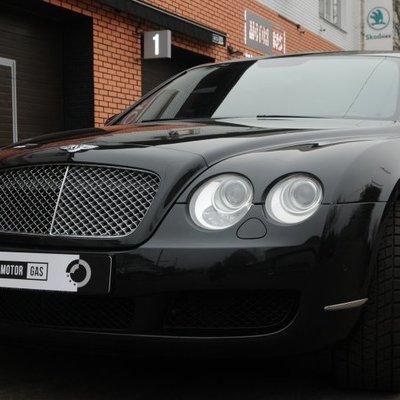 В Киеве установили ГБО на Bentley Continental Flying Spur: видео