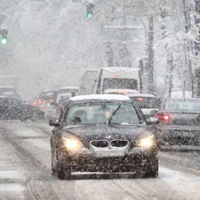 Водителей предупредили о снеге на дорогах