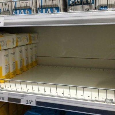 Киевляне скупают магазины: масло, соль, мука, гречка, туалетная бумага, водка
