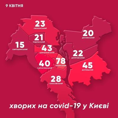 Количество киевлян, заболевших коронавирусом, увеличилось почти в три раза