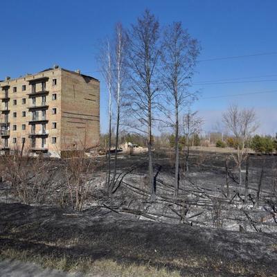 Чернобыльский пожар достиг заброшенного города Припять