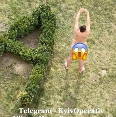 В Киеве полиция задержала голого мужчину