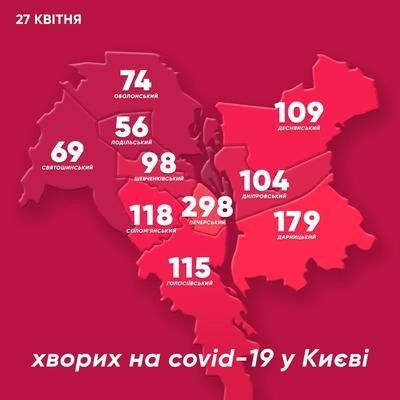 Коронавирус в Киеве перешагнул отметку в 1200 больных