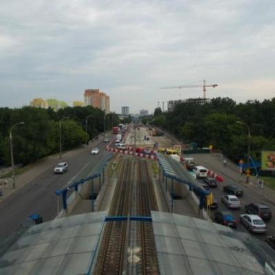 В Киеве на четыре месяца перекроют движение на части Борщаговского путепровода