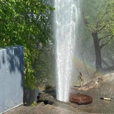 В центре Киева прорвало трубу: возник
