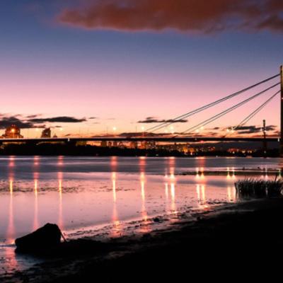 На столичном Северном мосту три ночи будут ограничивать движение транспорта