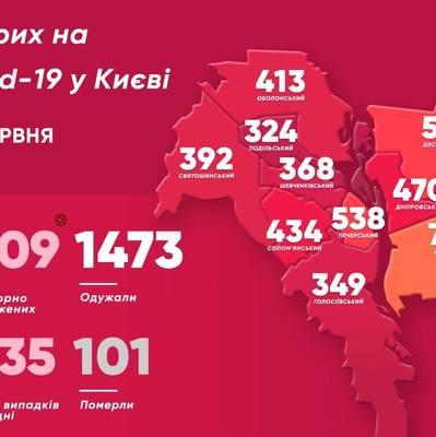 COVID-19 в Киеве: в каких районах больных больше всего