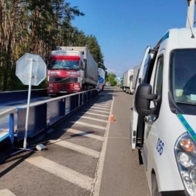 На въездах в Киев с апреля взвесили более 24 тысяч транспортных средств