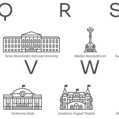 Украинская дизайнерка создала пиктограммы с достопримечательностями Киева