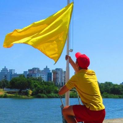 На всех пляжах Киева вывесили желтые флаги