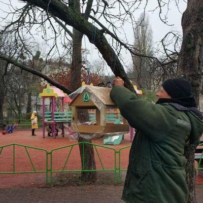 800 кормушек для птиц разместят в Киеве