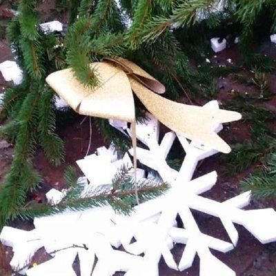 Елочные вандалы в Киеве: неизвестные повредили украшенные новогодние деревья – фото