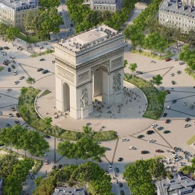 Елисейские Поля в Париже перепланируют и превратят в «необыкновенный сад»