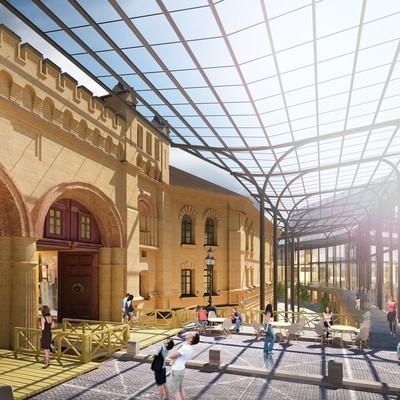 Стеклянный навес и новый офисный центр: как будет выглядеть обновленная Арсенальная площадь