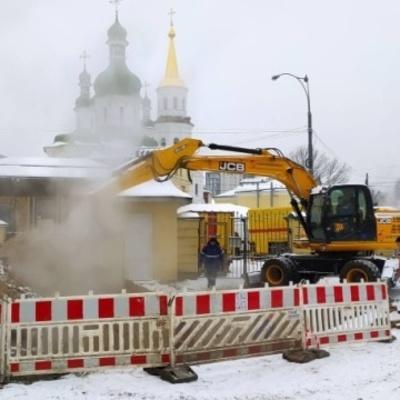 Часть центра Киева - без горячей воды и тепла из-за аварии